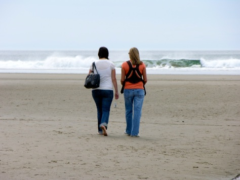 Kandace and Tiffany, on the Beach